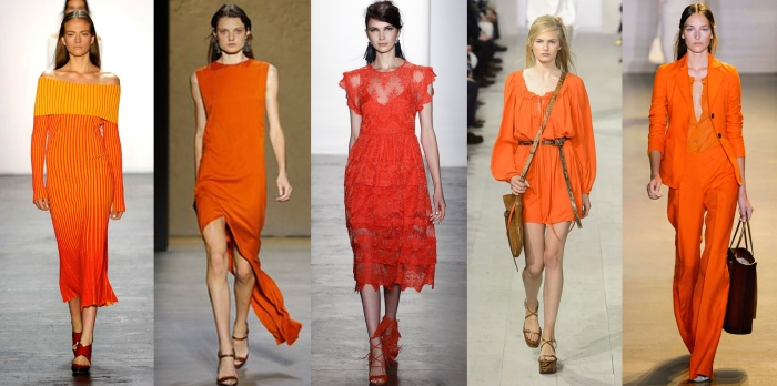 orange Trend color fashion trends 2016