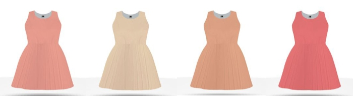 differnt shades of peach braidesmaid dresses