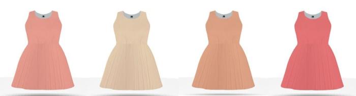 differnt shades of peach braidesmaid dresses