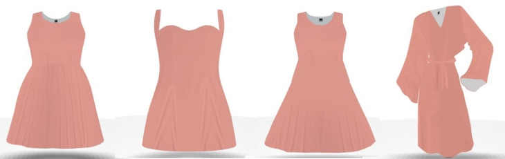 peach bridesmiad dresses custom color
