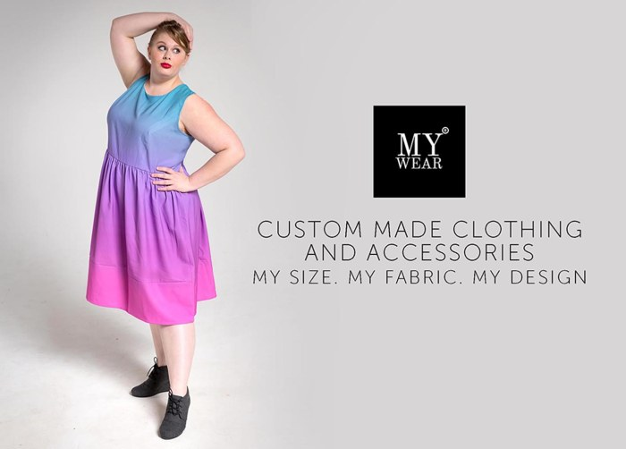 ombre plus size dress