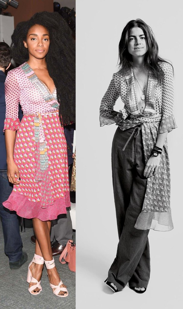 celebrities wearing dvf