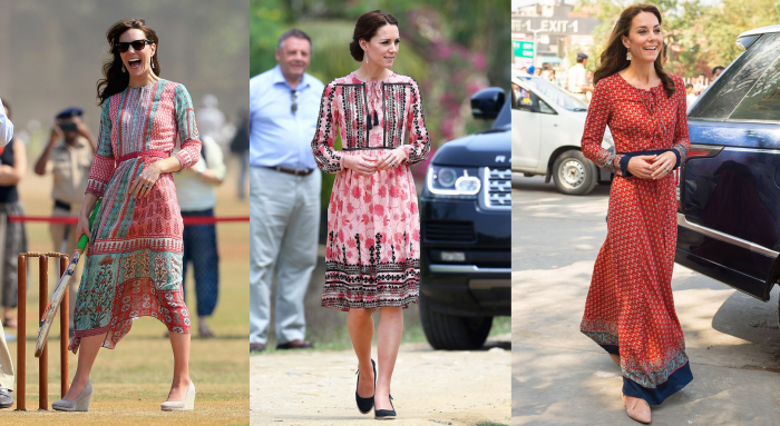 kate middleton india dress