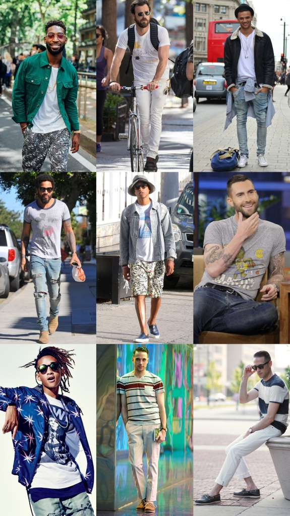 celebrity men t shirts styling