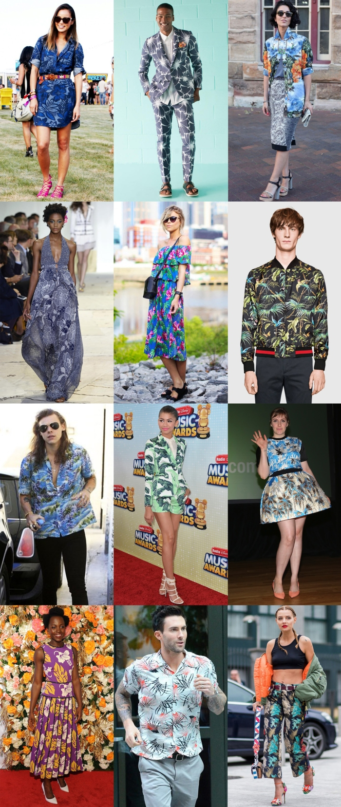 tropical print trend 2016 celebrity trends 2016 hawaiian print
