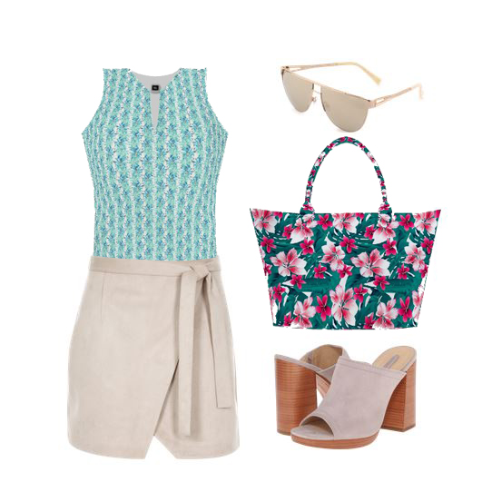 summer outfit tropical hawiian print trend