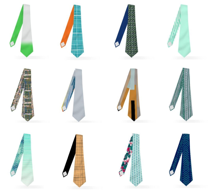 multiple ties picture mywear custom aligned ties, custom reversible ties