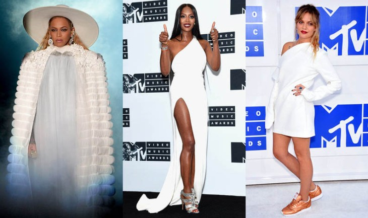 2017 fashion trends, trends for 2017, white outfits at VMAs
